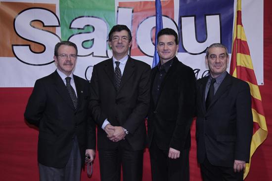 Miembros de FCBE con Jordi Mayral
