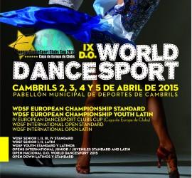 IX edición D.O. World Dance Sport 2015, organizado por la World Dance Sport Federation.