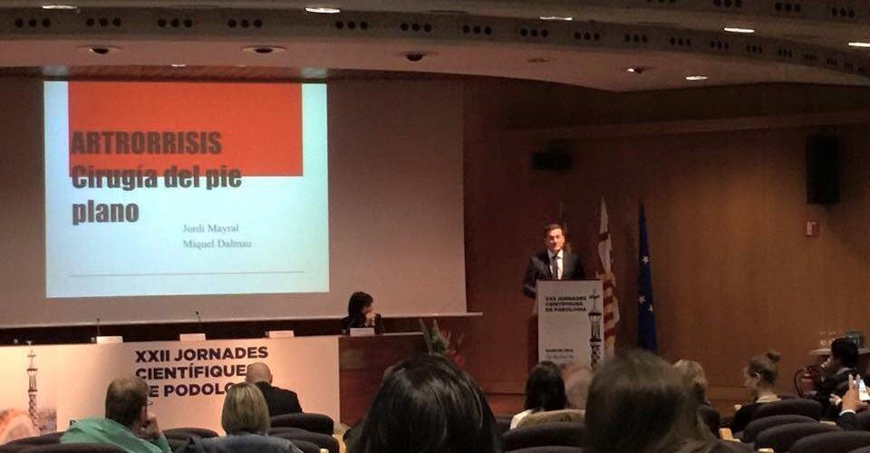 Jordi Mayral en las XXII Jornades Científiques de Podologia